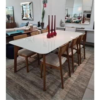 Mesa de Jantar 6 Cadeiras Lugares Europa 180 cm x 90 cm