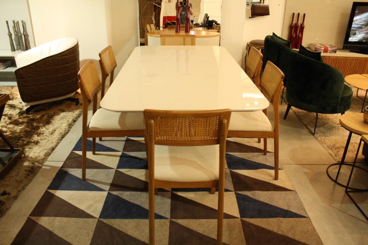 Mesa de Jantar 6 Lugares Califórnia 160 cm x 90 cm