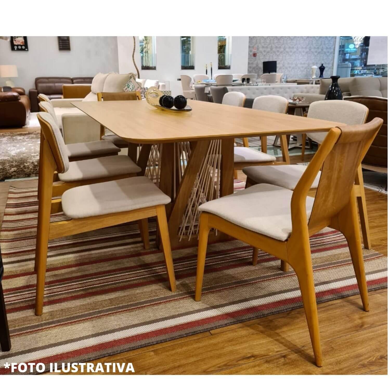 Mesa de Jantar 6 Lugares Califórnia 160 cm x 90 cm Freijó