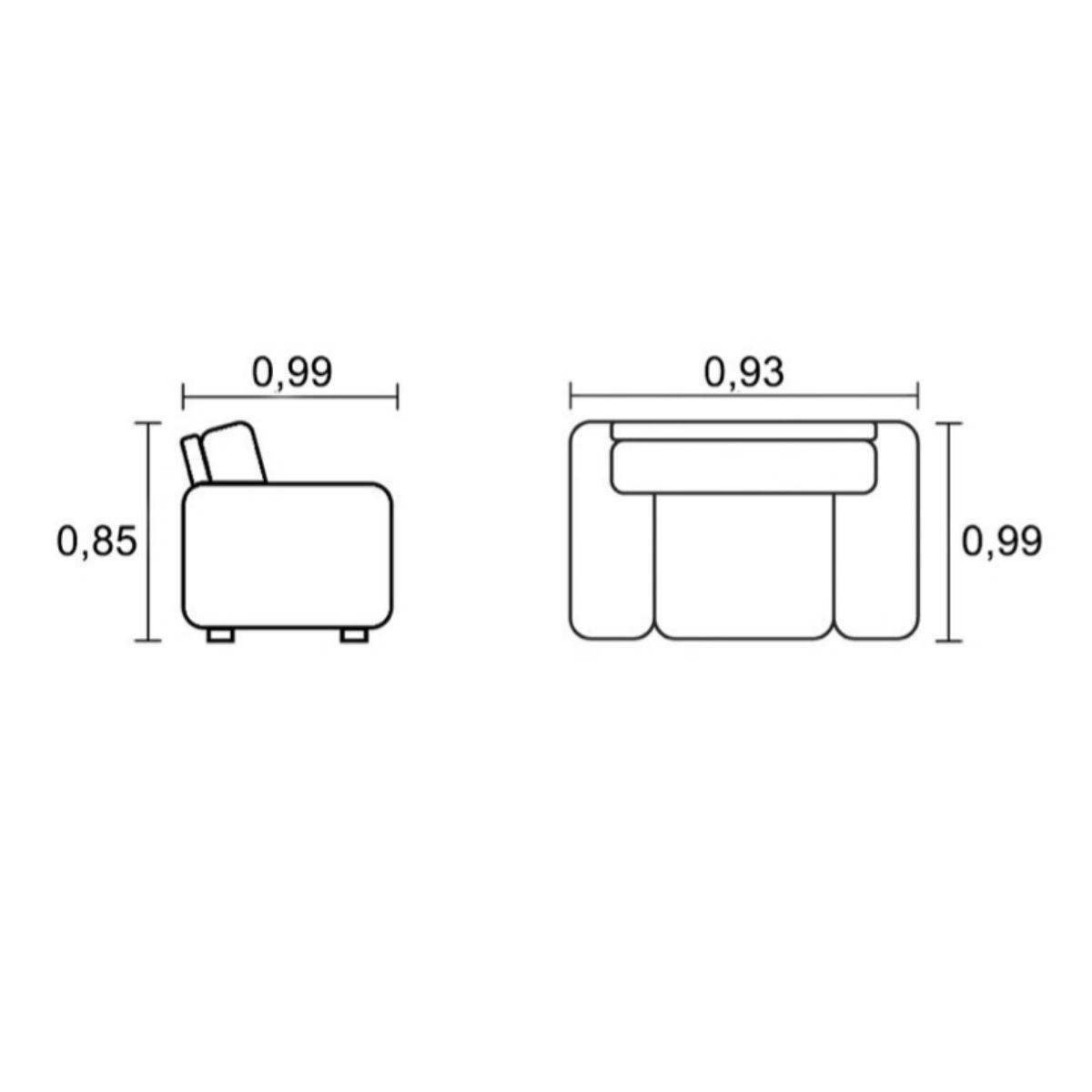 Poltrona Giratória de Couro Luma  - Formato Móveis e Decorações