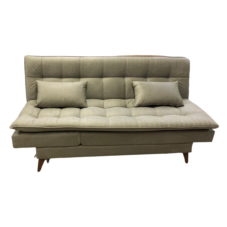Sofá Cama Casal 3 Lugares com Chaise 190 cm Premium Bege