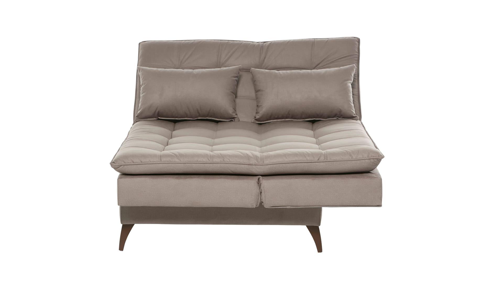 Sofá Cama Casal 3 Lugares com Chaise 190 cm Premium Creme