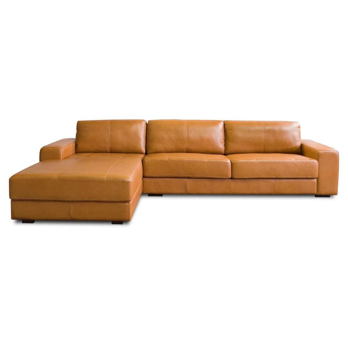Sofá Chaise de Couro 3 Lugares 320cm Canadá LD  - Formato Móveis e Decorações