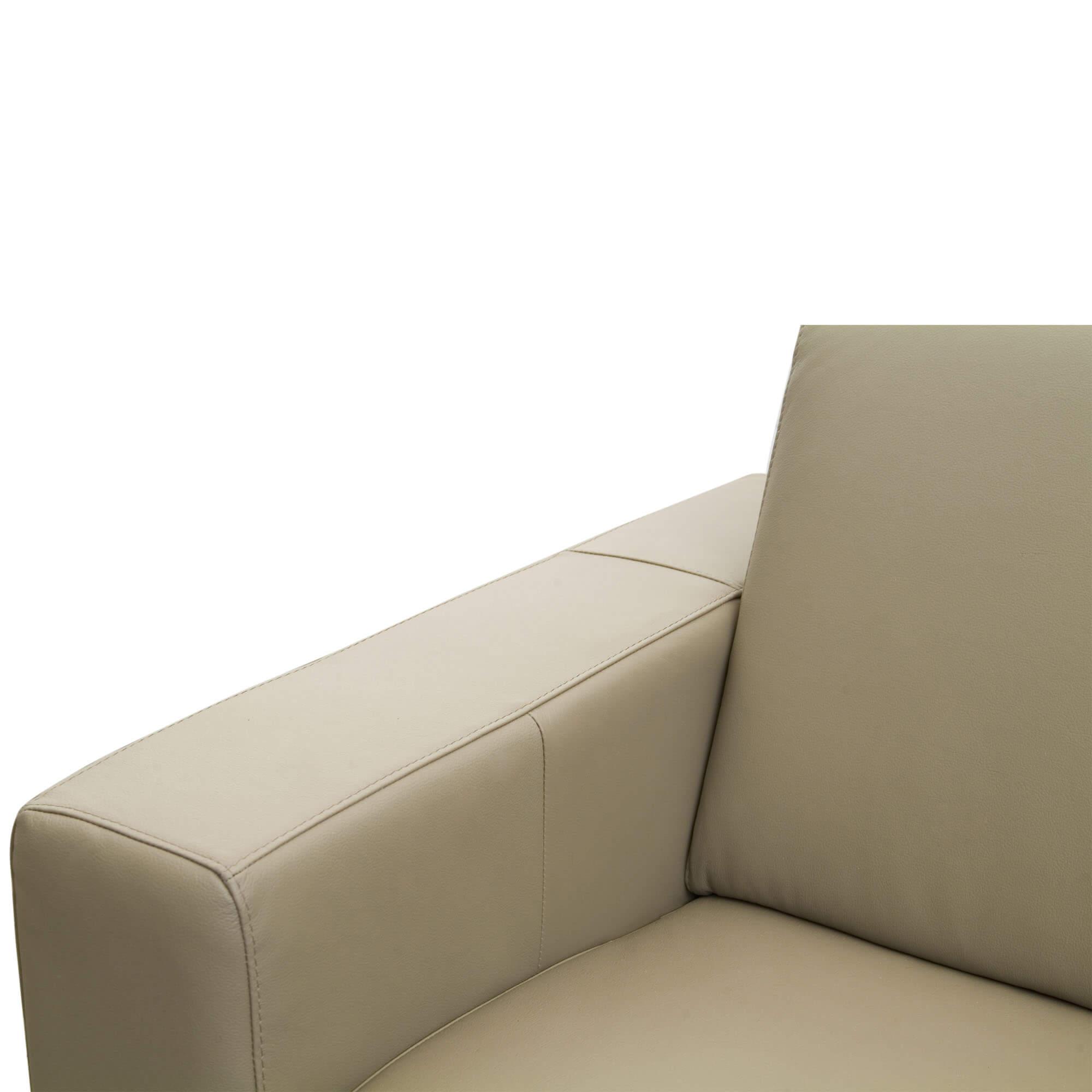 Sofá Como 3 Lugares em Couro 210cm
