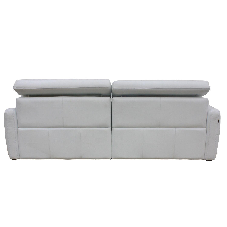 Sofá Retrátil Elétrico de Couro 2 Módulos 200cm - NYC Branco