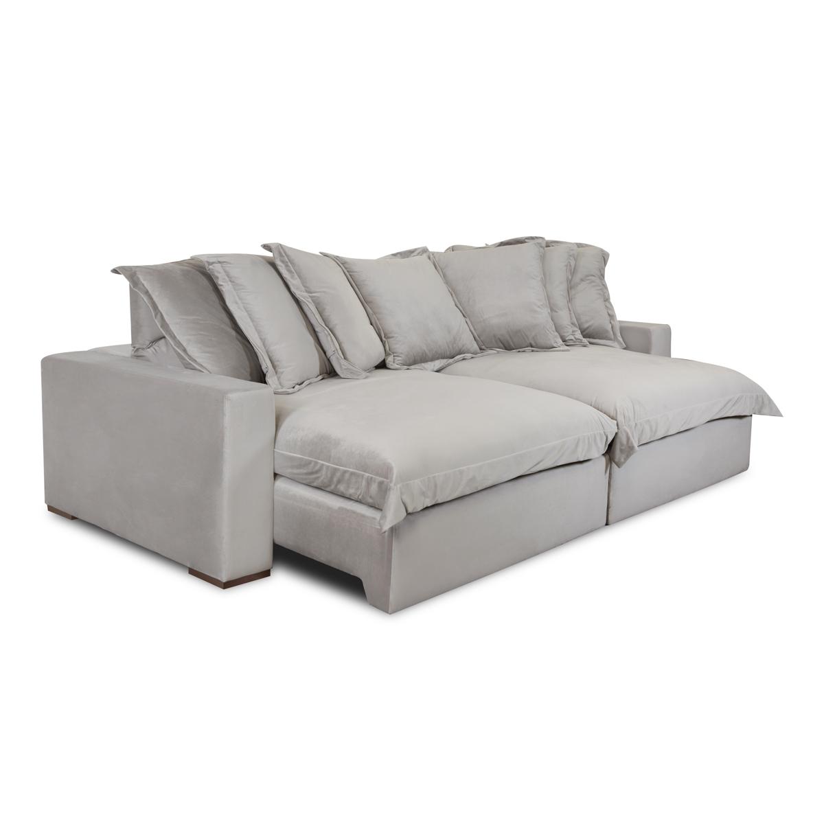 Sofá Retrátil e Reclinável 290cm Potenza Cinza  - Formato Móveis e Decorações