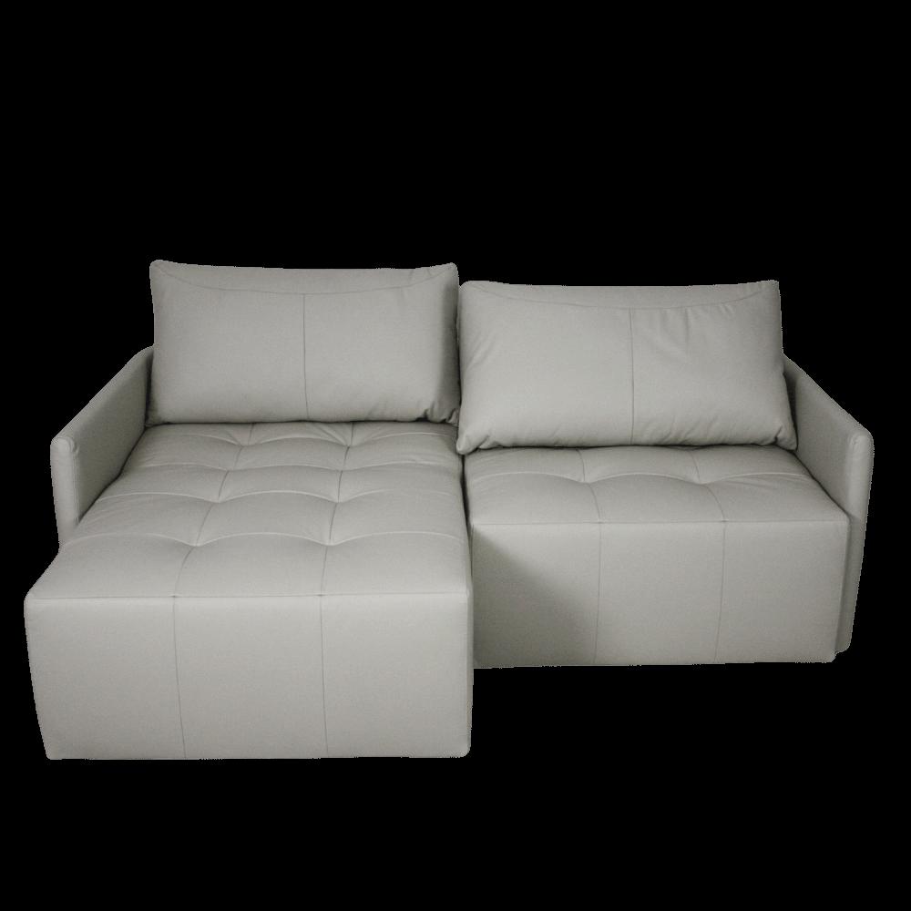 Sofá-Retrátil 3 em 1 Siberia 210 cm Em Couro Off White