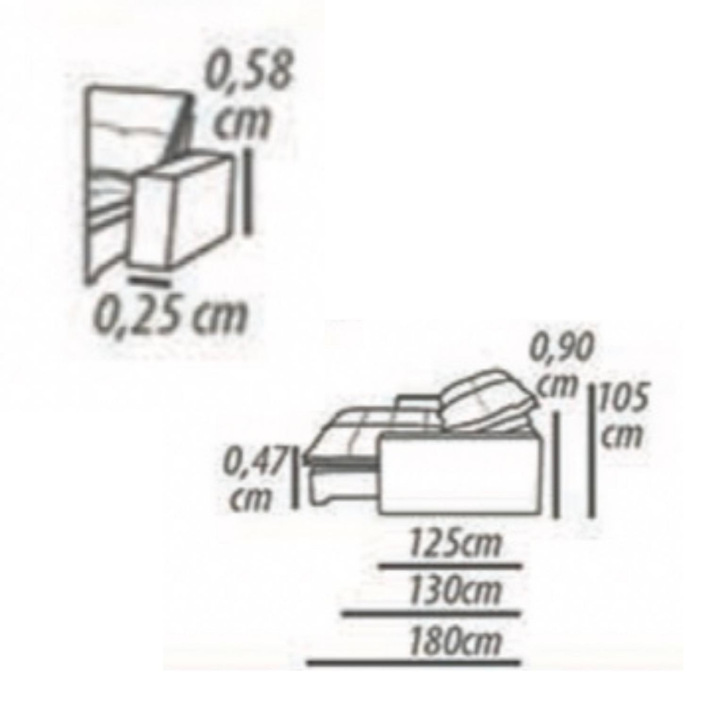 Sofa Retrátil 3 Lugares 230 cm Danúbio - Suede Cinza
