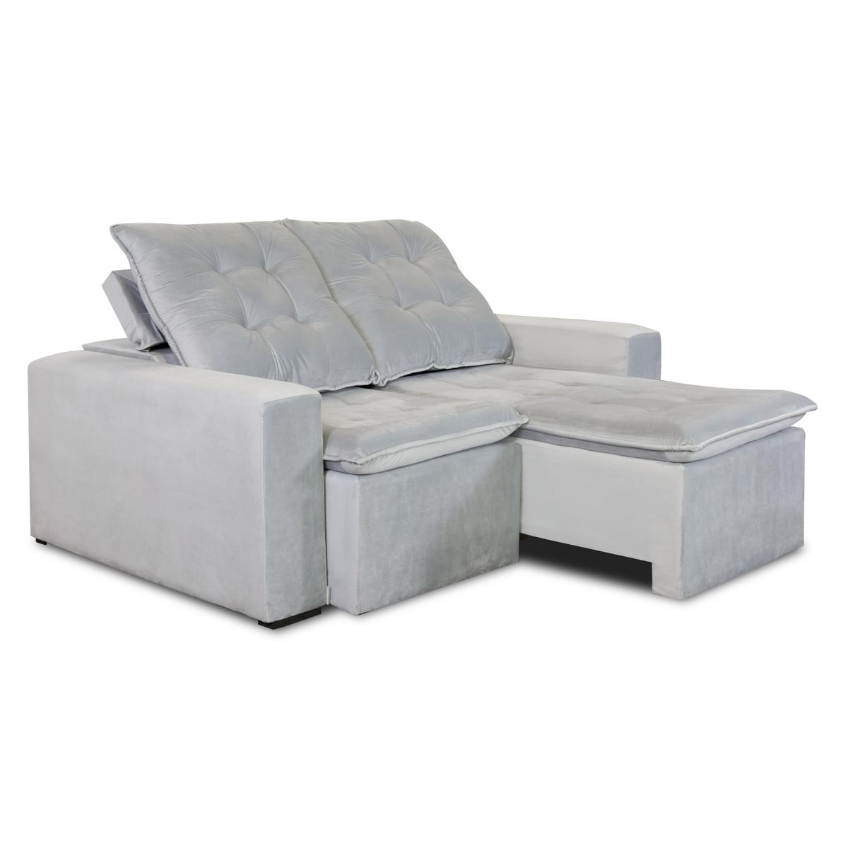 Sofá Retrátil e Reclinável 180cm Trento Cinza