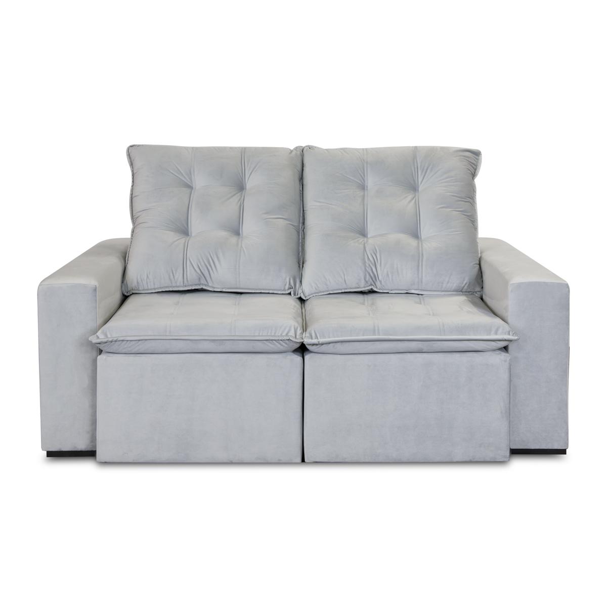 Sofá Retrátil e Reclinável 180cm Trento Cinza  - Formato Móveis e Decorações