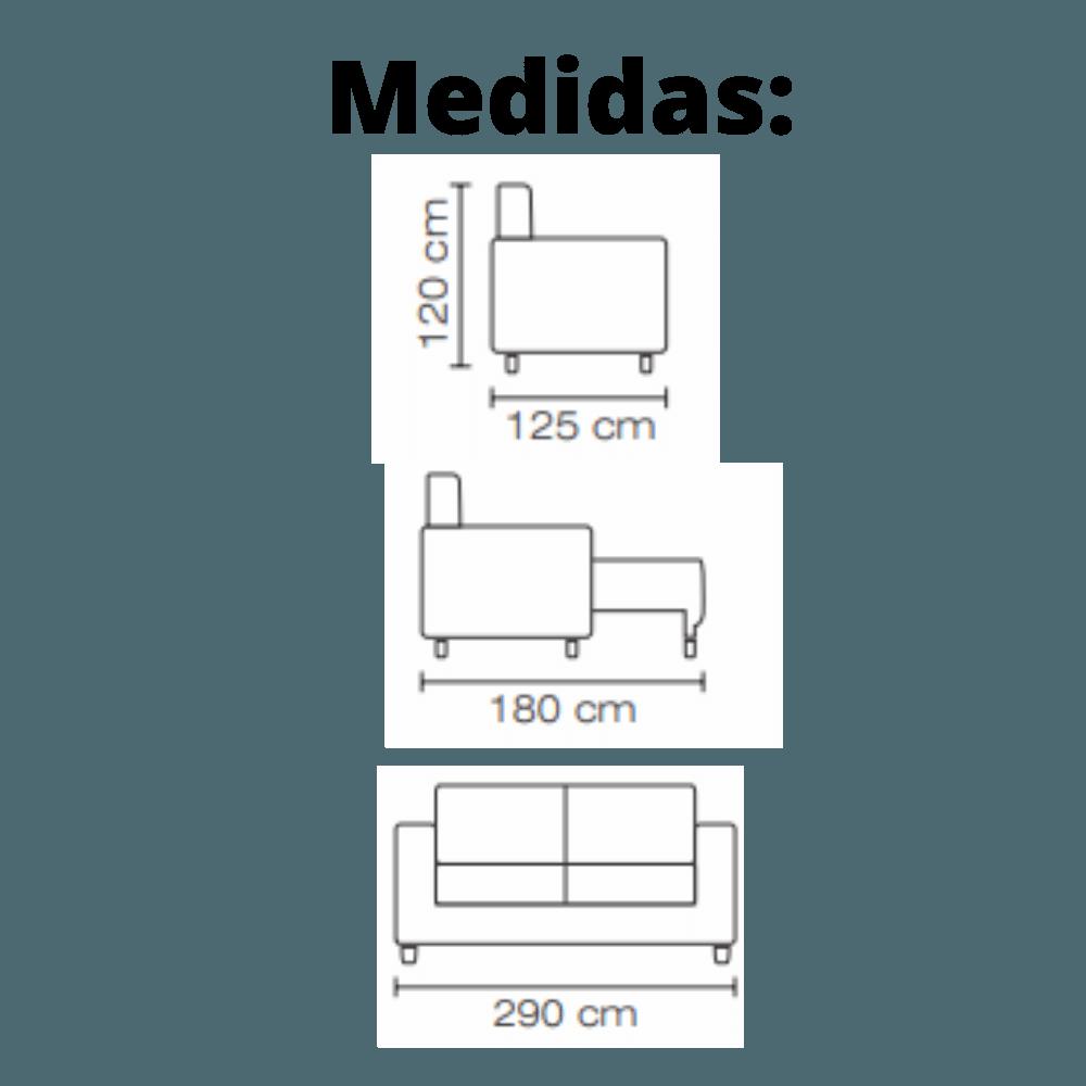 Sofá Retrátil e Reclinável 290cm Vica Suede Cinza