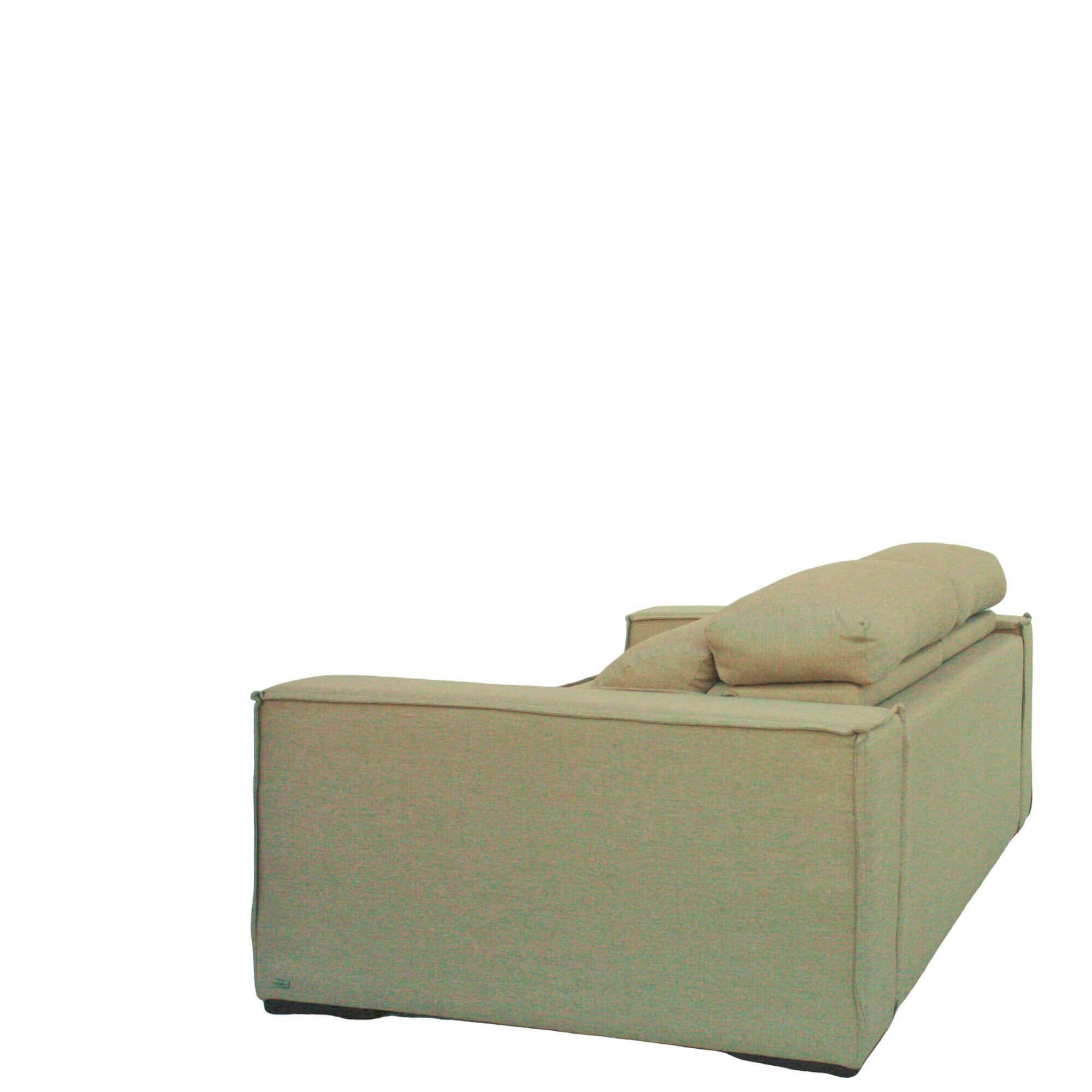 Sofá Retrátil e Reclinável 3 Lugares 230cm Live Linho Sintético Bege