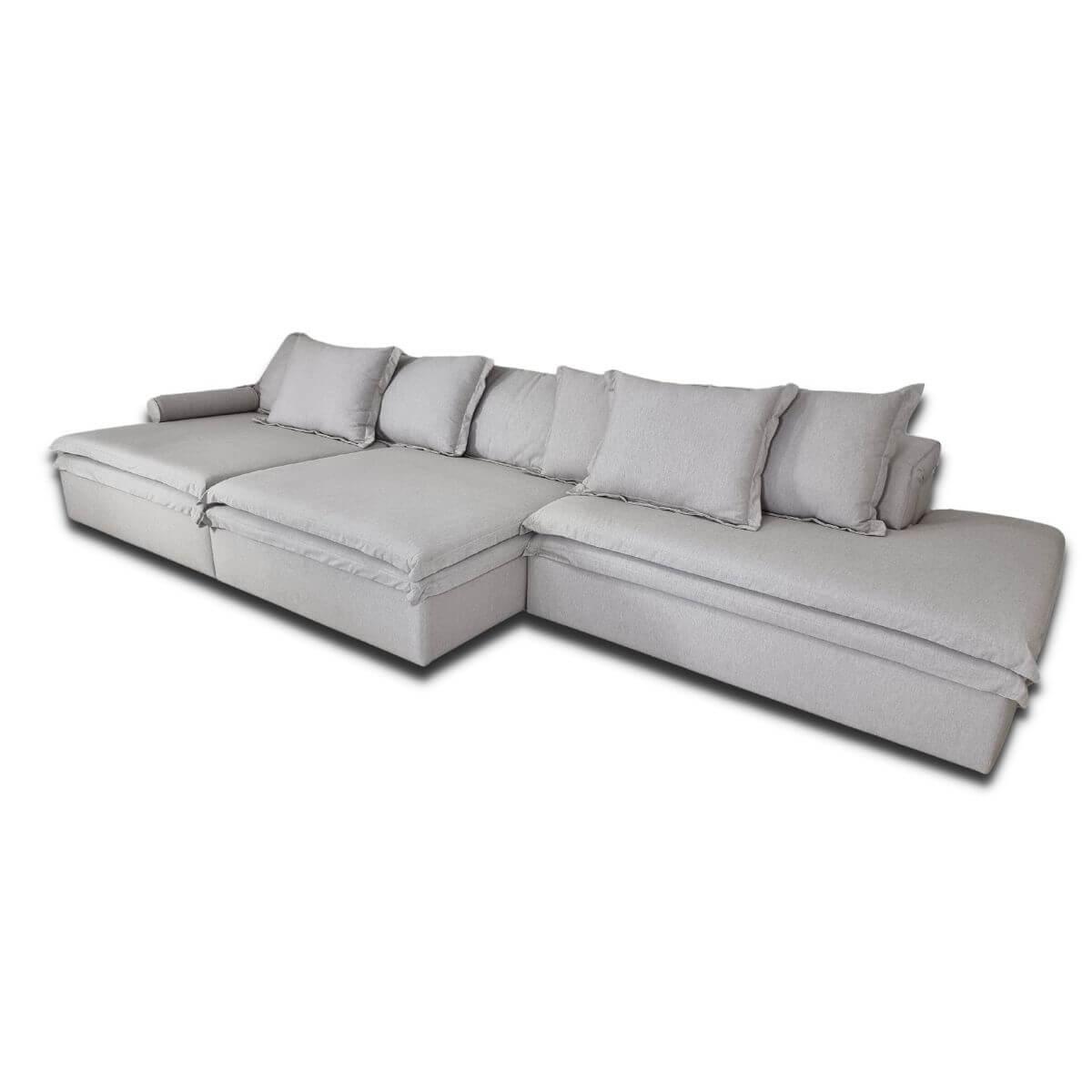 Sofá Retrátil e Reclinável 420cm Molli - Peça Única