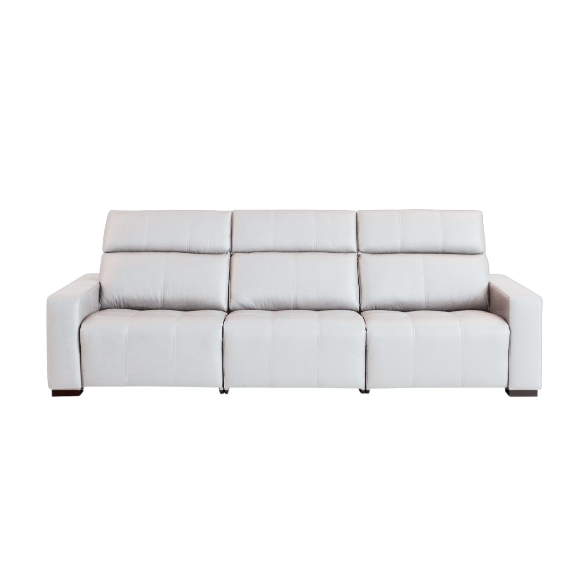 Sofá Retrátil Elétrico de Couro 289cm - Malta Off White
