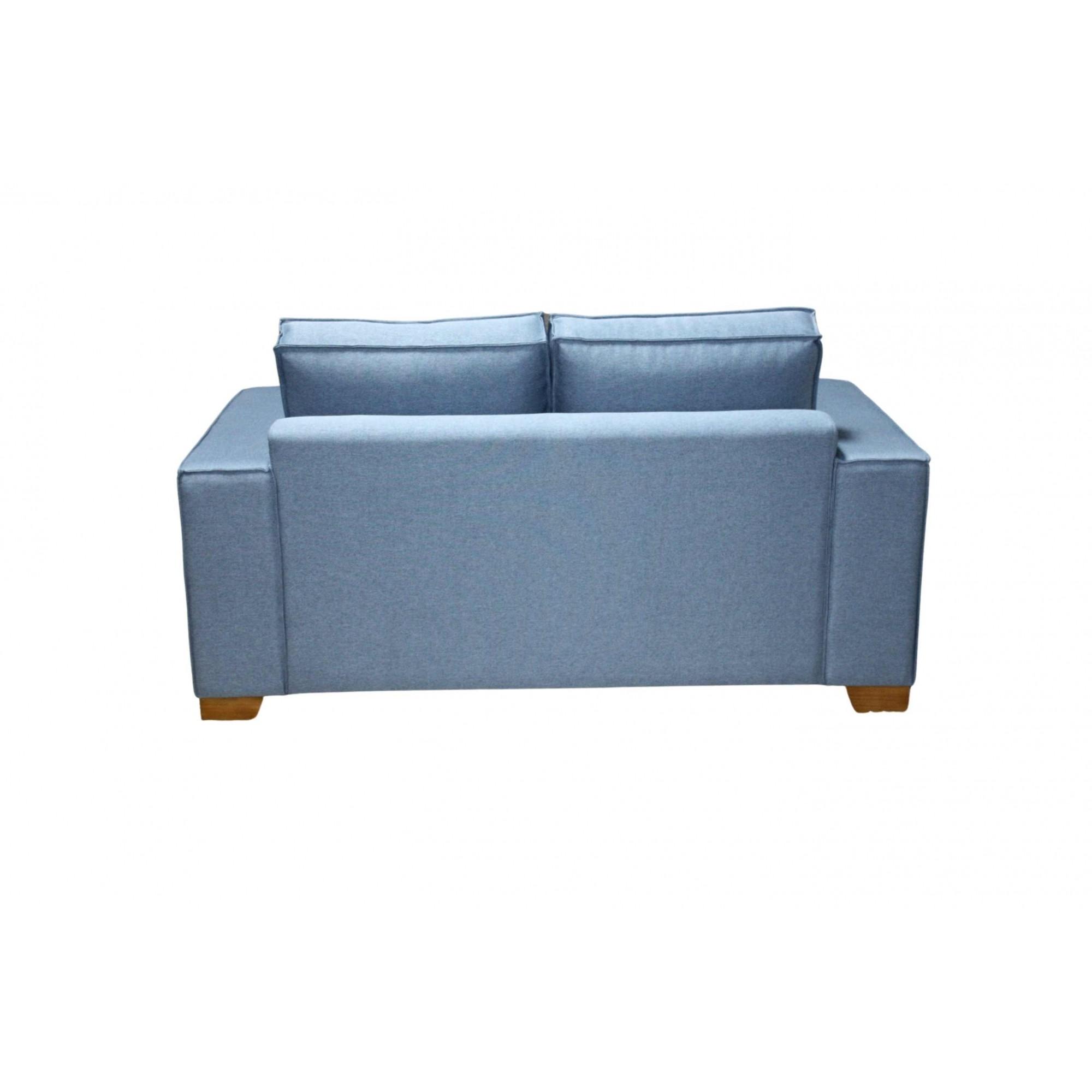 Sofá 2 Lugares 160cm Tracker - Tecido Azul Forli