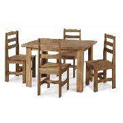Conjunto Mesa de Jantar Classic (120 X 80cm)  - 4 Cadeiras - Madeira Maciça