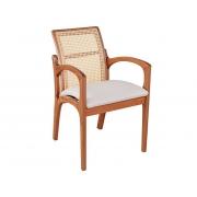 Cadeira de Jantar Valquíria c/ Braço - Studium Prime - Amêndoa