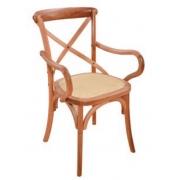 Cadeira de Jantar Xangai c/ braço - Studium Prime - Amêndoa