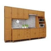 Kit Cozinha Compacta Jade com 6 Módulos - Madeira Maciça -  Cor Nogueira