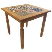 Mesa de Jantar com Tozzeto (80cm) - Madeira maciça, Woods - Mel