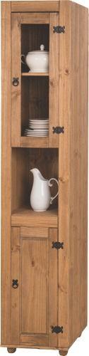 Cozinha Compacta Rústica com 5 Módulos - Madeira Maciça - Cera Mel