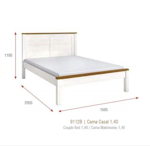 Cama Casal (111 X 150,5cm) - Madeira Maciça - Branco