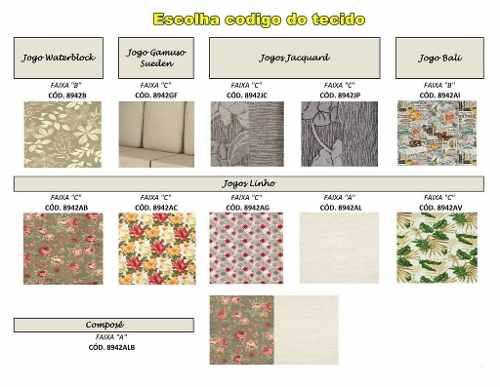 Sofá - 3 Lugares - Madeira Maciça - Com Almofadas - Cor Imbuia