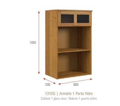 Cozinha Compacta Jade - Madeira Maciça - 8 Módulos - Cor Nogueira
