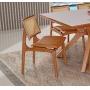 Cadeira de Jantar Amsterdã Madeira Maciça - Acento Caramelo - Amêndoa