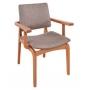 Cadeira de Jantar Berlim c/ braço  Studium Prime - Amêndoa