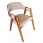 Cadeira de Jantar Fixa Corda - Studium Prime - Castanho
