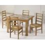 Conjunto Mesa de Jantar Ravena - 4 Cadeiras - Azulejo Retro Tamanho ( 93cm X 113cm) - Castanho