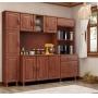 Cozinha Compacta Bronze com Paneleiro Finestra - Imbuia