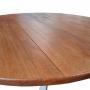 Mesa de Jantar Redonda (120cm) Madeira Maciça, Woods - Cinza/Mel