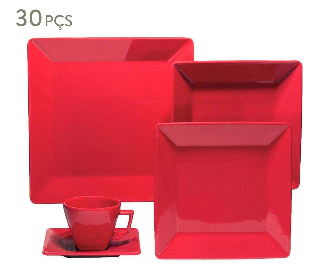 Aparelho de Jantar Quartier - Red - 30 peças - Oxford