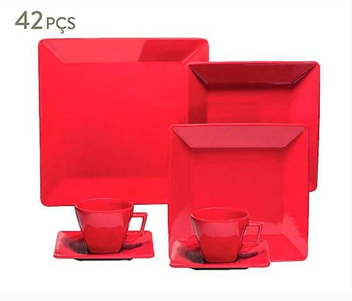 Aparelho de Jantar Quartier - Red - 42 peças - Oxford