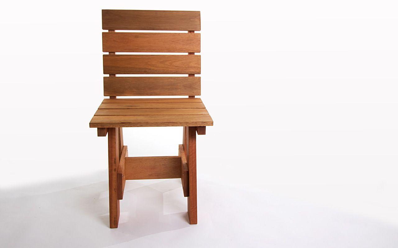 Cadeira Alabama com Encosto - Madeira maciça