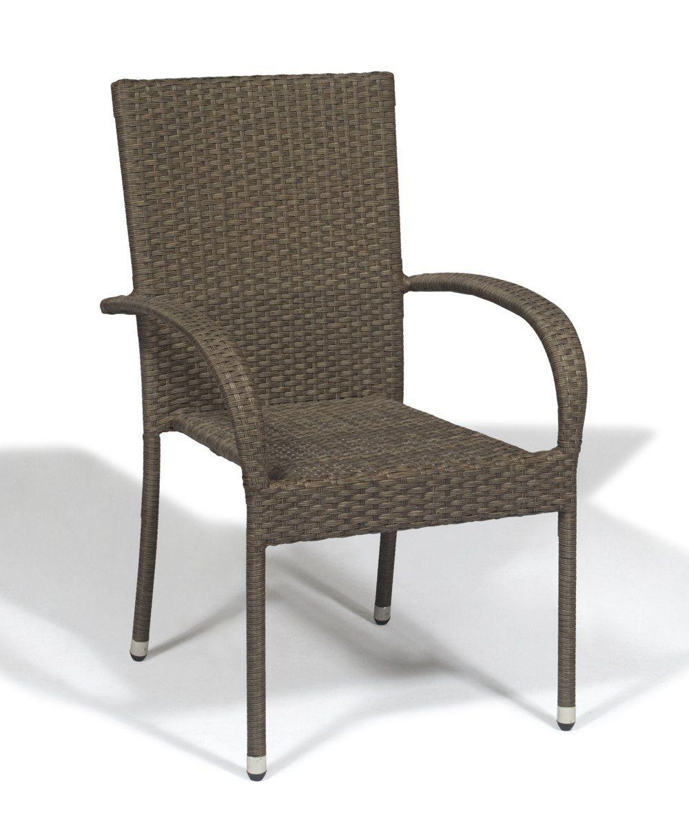 Cadeira de Aluminio Ronne - Fibra Sintética - Cor Marrom