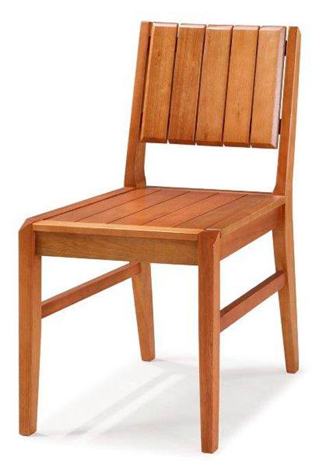 Cadeira de Jantar Angra - Madeira Maciça de Eucalipto