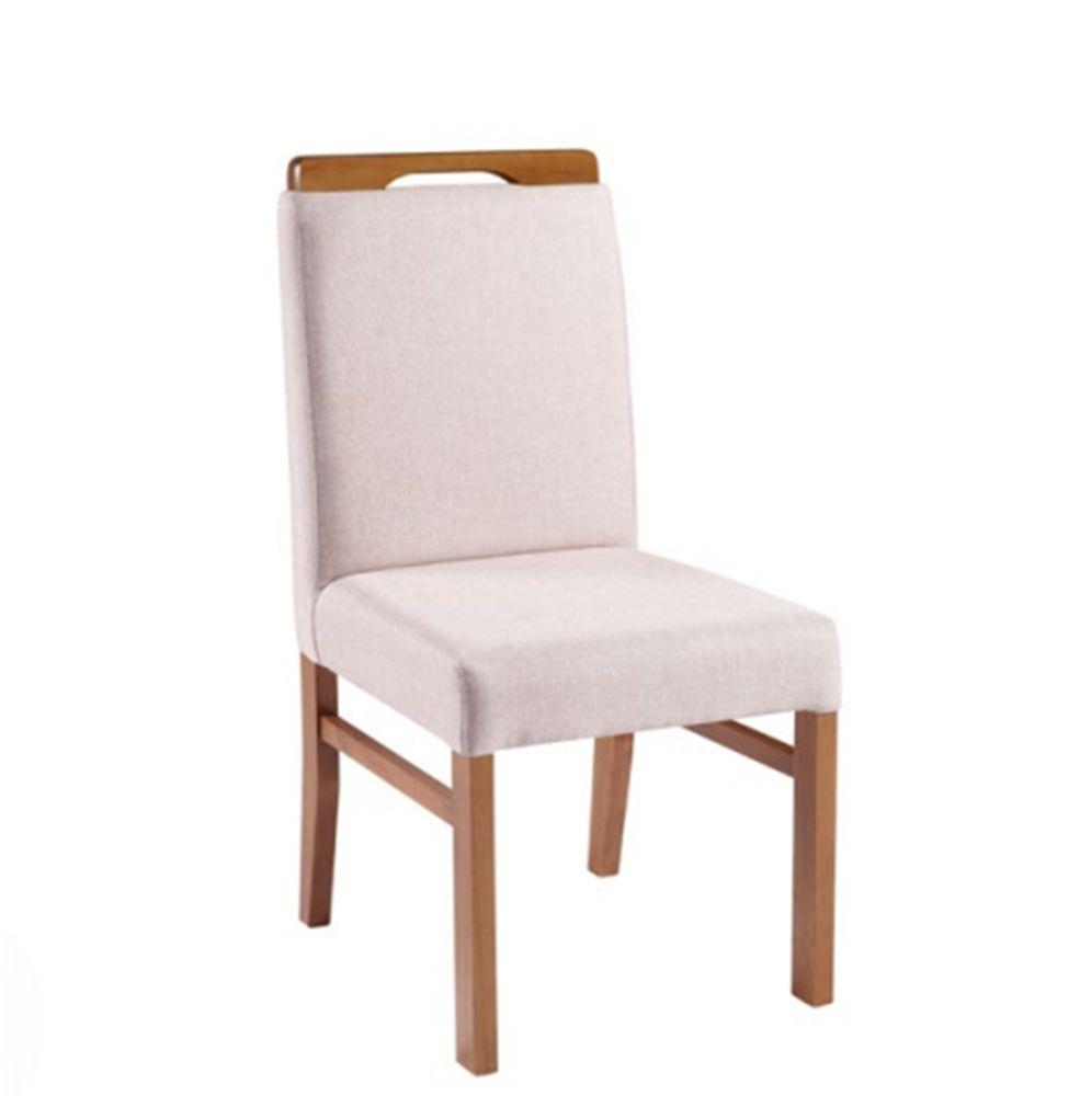 Cadeira de Jantar Berlim em Madeira Maciça - Acento e Encosto Estofado
