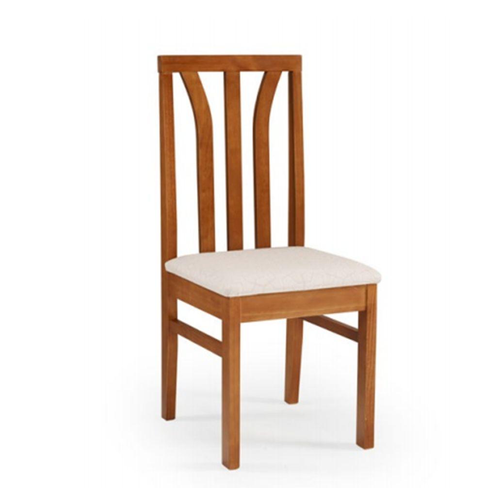 Cadeira de Jantar Londres em Madeira Maciça com Acento Estofado