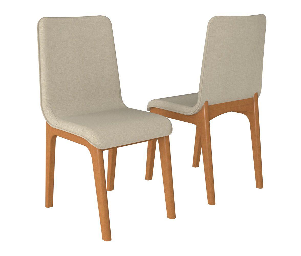 Cadeira de Jantar New York em Madeira Maciça - Estofada