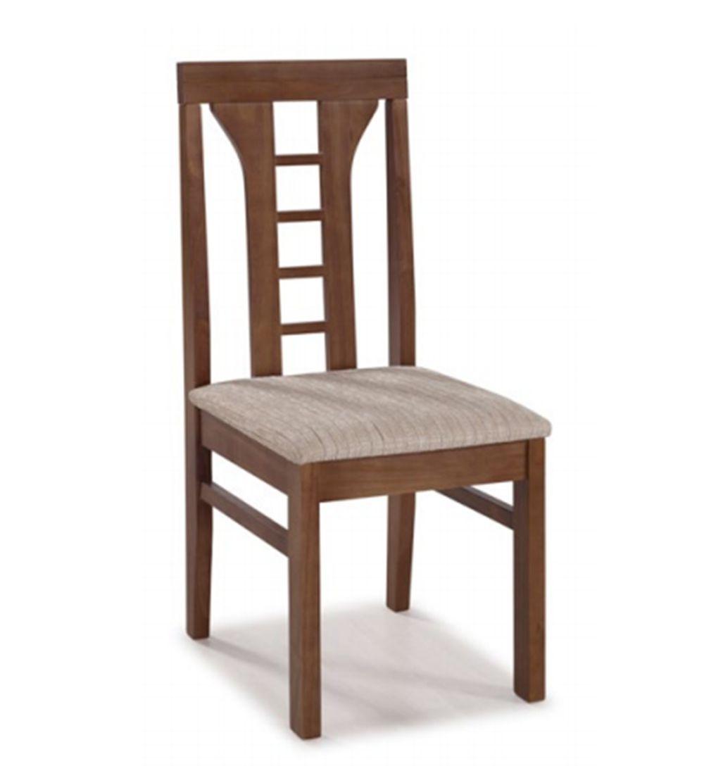 Cadeira de Jantar Olinda II em Madeira Maciça com Acento Estofado