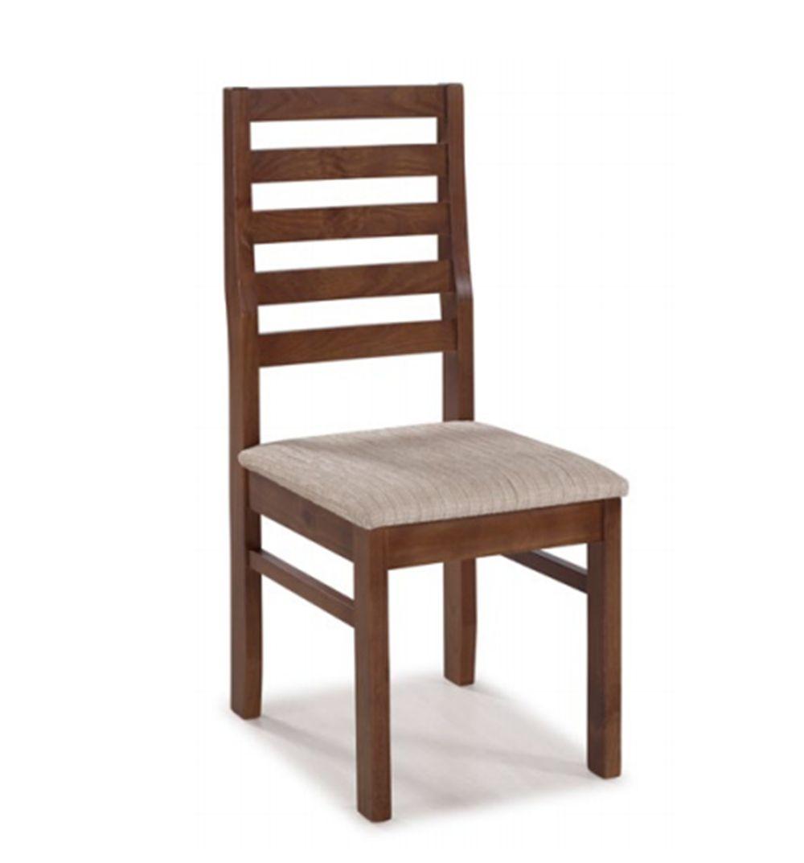 Cadeira de Jantar Veneza II em Madeira Maciça com Acento Estofado