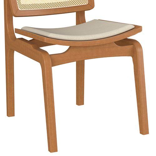 Cadeira de Jantar Verônica com Tela em Fibra Natural - Seiva