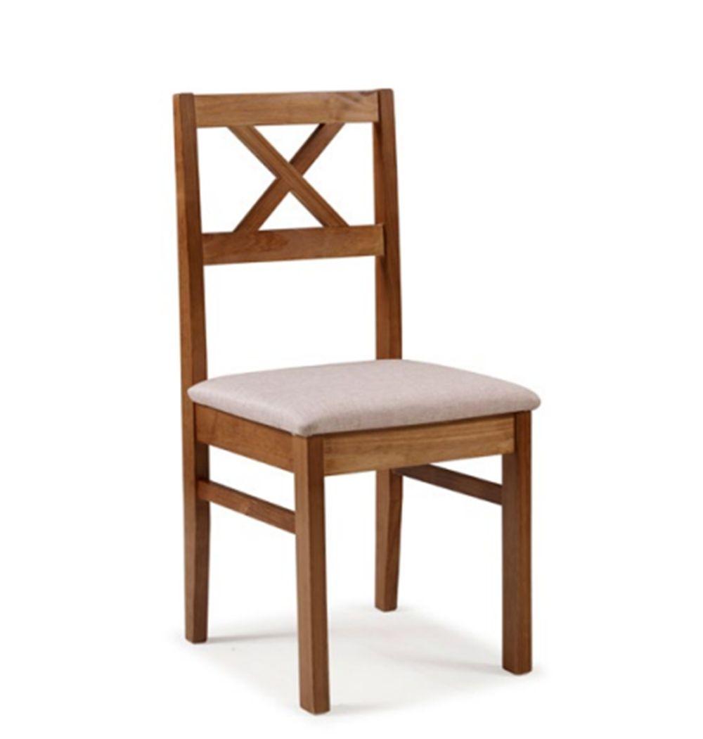Cadeira de Jantar Viena em Madeira Maciça com Acento Estofado