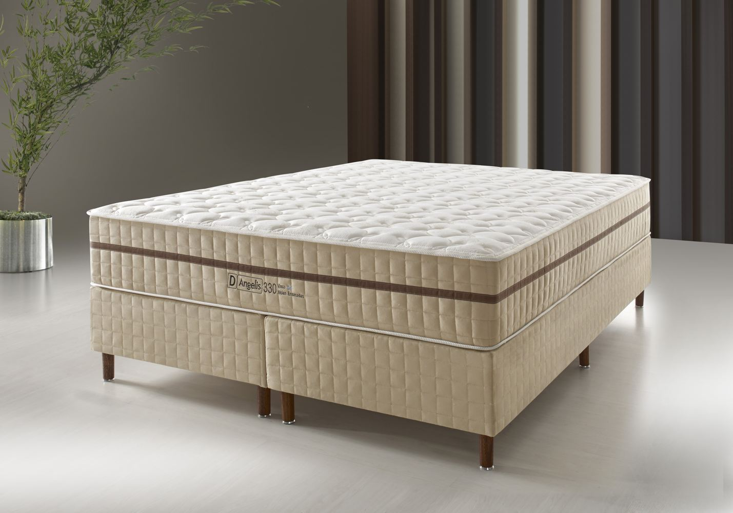 Conjunto Cama Box - DG-330 Visco Gel - Pillow In - D Angelis