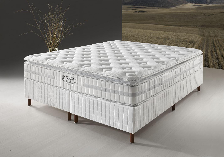 Conjunto Cama Box - DG-330 Visco Gel - Pillow Top - D Angelis