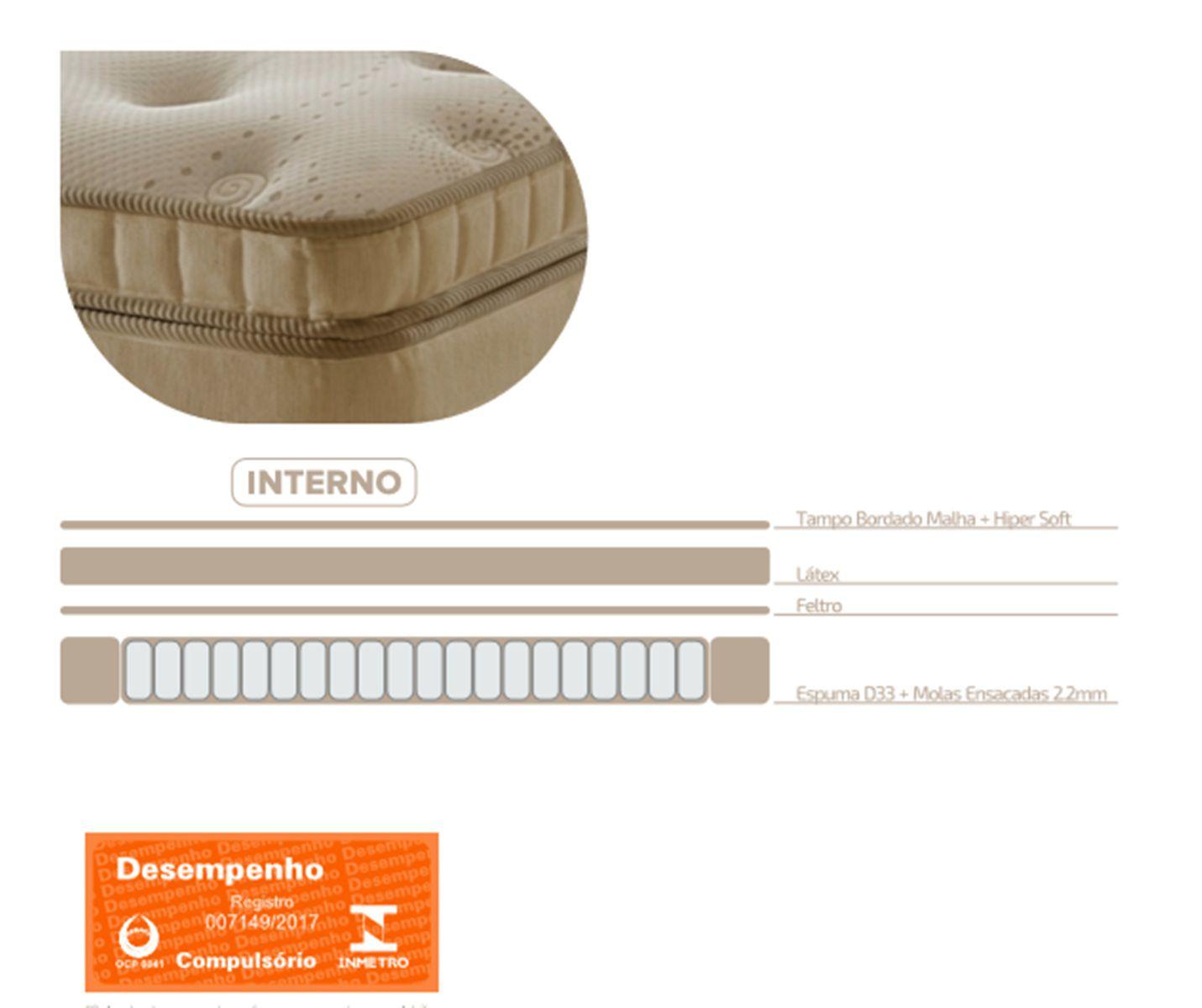 Conjunto Cama Box com Massageador e Magnético - DG-841- D Angelis