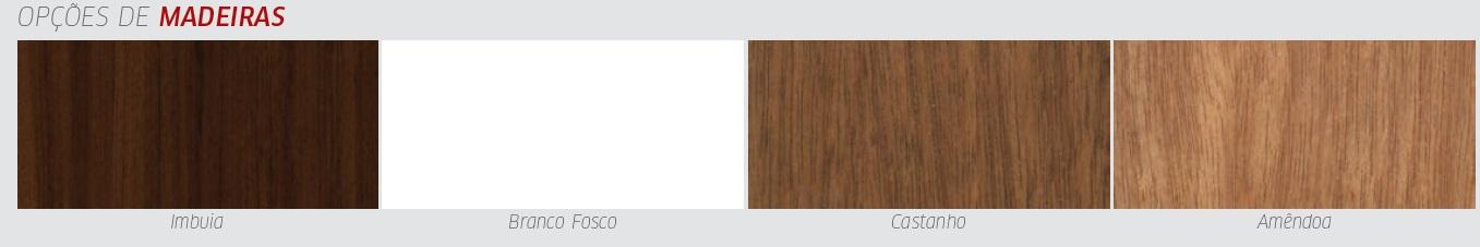 Conjunto Mesa de Jantar Goumert Boteco - 4 Cadeiras Country - Castanho